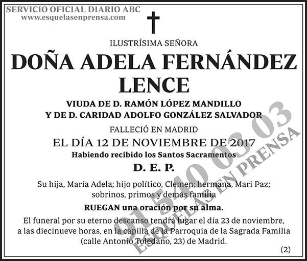 Adela Fernández Lence